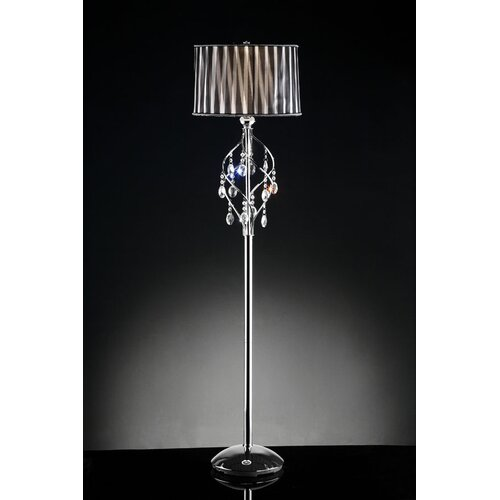 ORE Furniture Crystal Lady 1 Light Floor Lamp