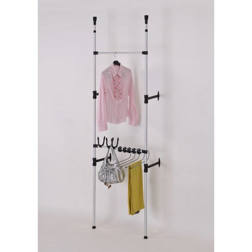 ORE Furniture Telescopic 110'' H x 26'' W x 14'' D 3 Tier Clothes / Jeans Rack