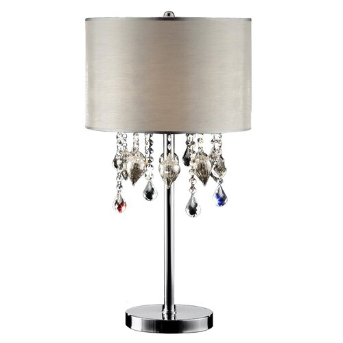 "Dale Tiffany Strada Crystal 32.75"" H Table Lamp with Drum Shade & Reviews 