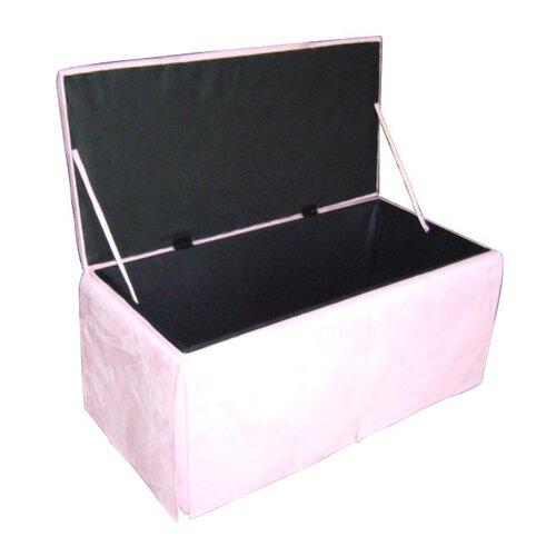 ORE Furniture Microfiber Storage Bench