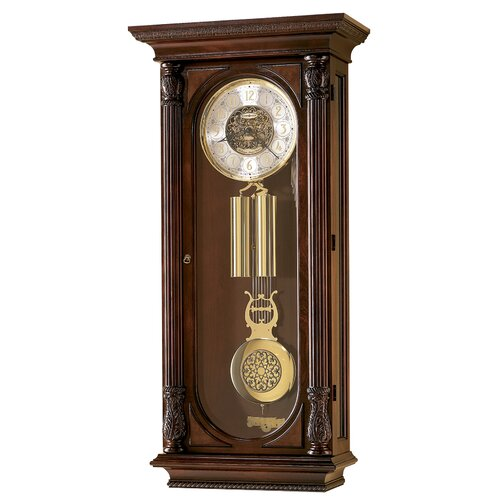 Howard Miller® Chiming Key-Wound Stevenson Wall Clock