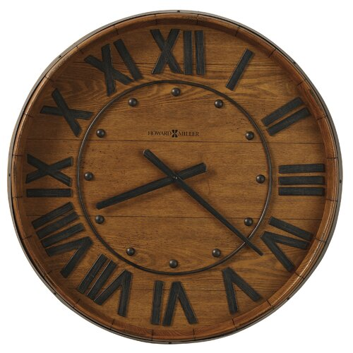 "Howard Miller® Oversized 25"" Wine Barrel Wall Clock"