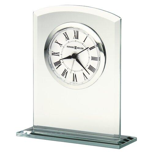 Howard Miller® Medina Glass Table Top Clock