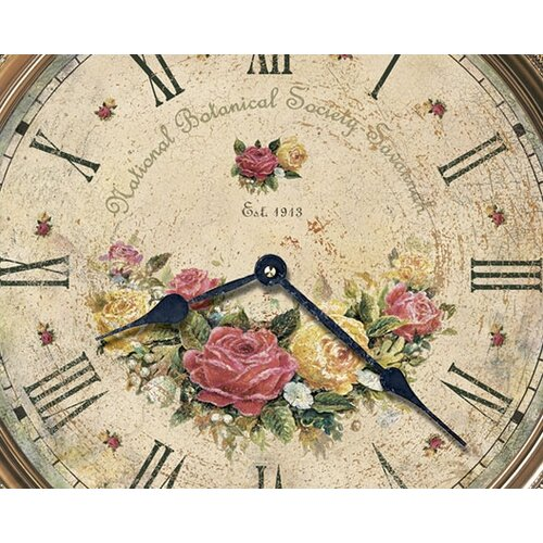 "Howard Miller® Moment In Time Savannah Botanical VII Quartz 15"" Wall Clock"