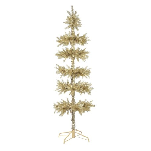 7.5' Layered Silver Tinsel Artificial Christmas Tree