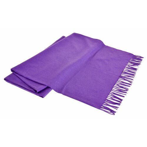 All-Natural Cashmere / Lambswool Fringed Throw