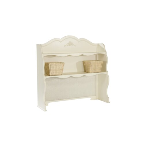 LC Kids Enchantment Hutch for Desk in Distressed Antique Off White