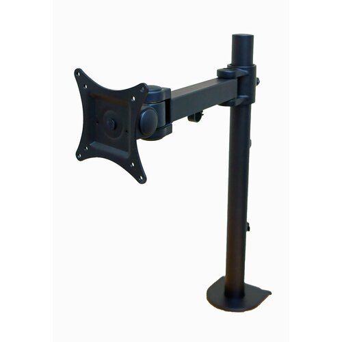 Articulating Single Arm Computer Monitor Desk Mount for Monitors up to 27