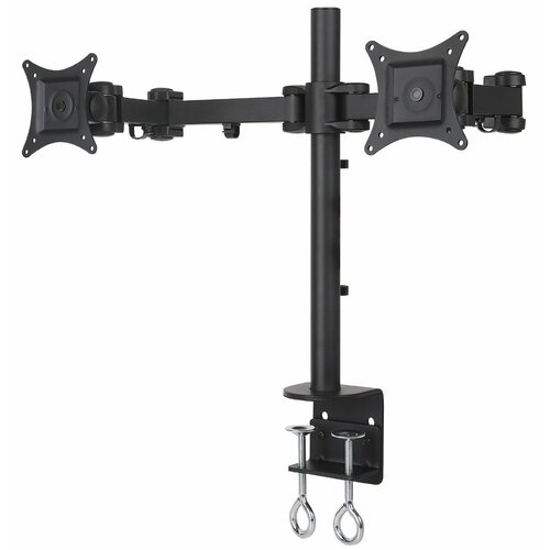 Dual Arm Articulating Computer Monitor Desk Mount for Monitors up to 27