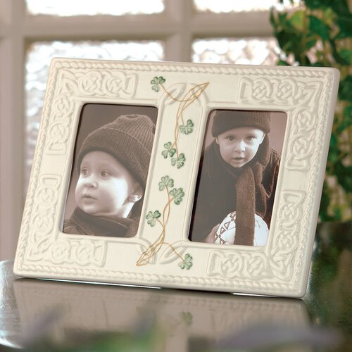 Belleek Tara Double Picture Frame