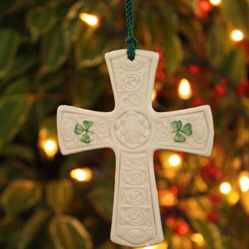 Belleek St. Patricks Cross Ornament