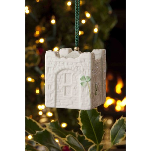 Belleek Castles of Ireland Bunartty Bell Ornament