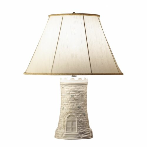 """Belleek Castle 21"""" H Table Lamp with Empire Shade"""