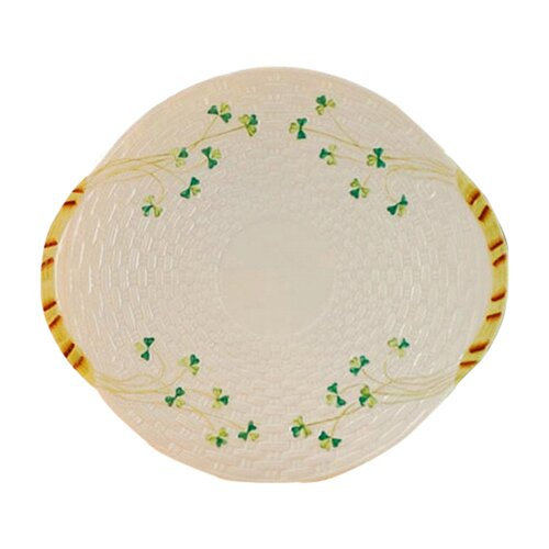 "Belleek Shamrock 11.25"" Bread Plate"