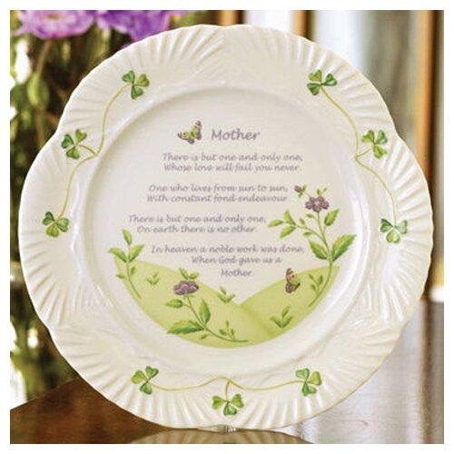 "Belleek 9"" Mother's Blessing Plate"
