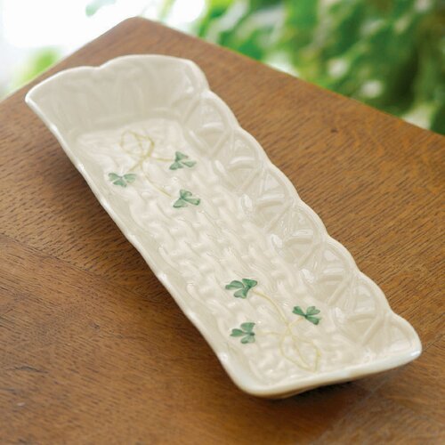 "Belleek Shamrock 3"" Mint Dish"