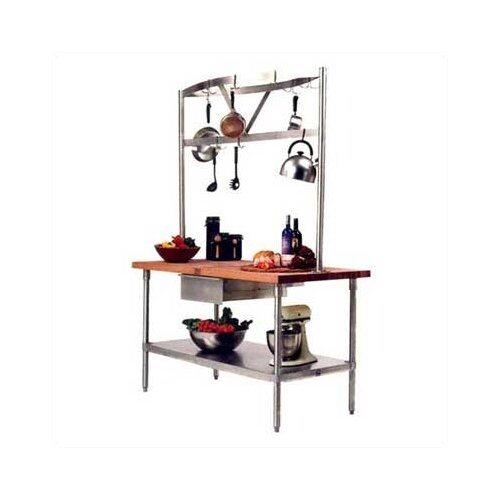 John Boos Cucina Americana Grandioso Prep Table with Wood Top