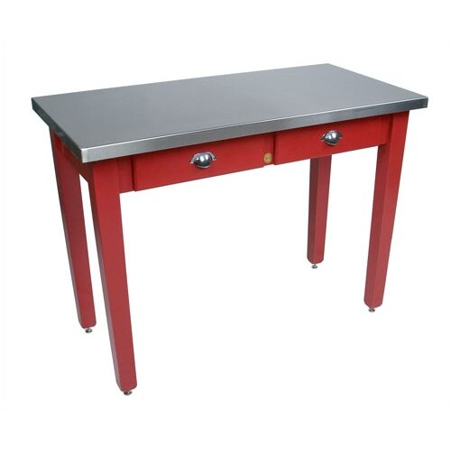 John Boos Cucina Americana Milano Prep Table with Stainless Steel Top