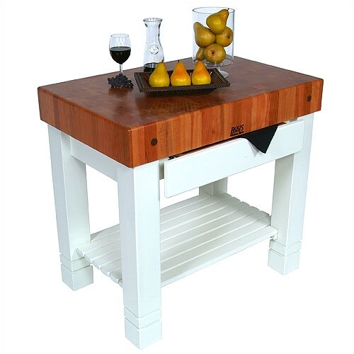 John Boos American Heritage Homestead Prep Table with Butcher Block Top