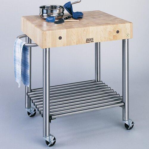 John boos cucina americana kitchen cart with butcher block top reviews wayfair - John boos cucina ...
