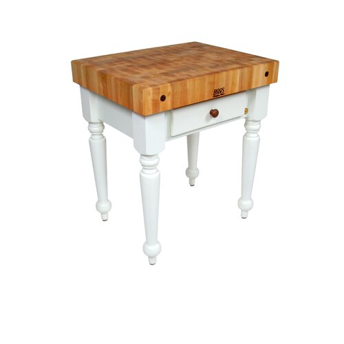 John Boos American Heritage Rustica Kitchen Island with Butcher Block Top