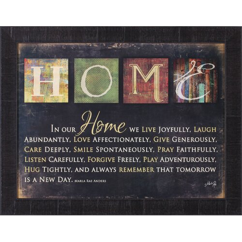 In Our Home by Marla Rae Framed Textual Art