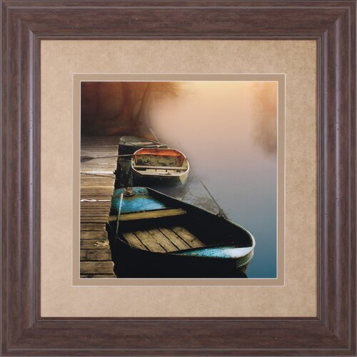 Misty Boats by Steven Mitchell Framed Painting Print