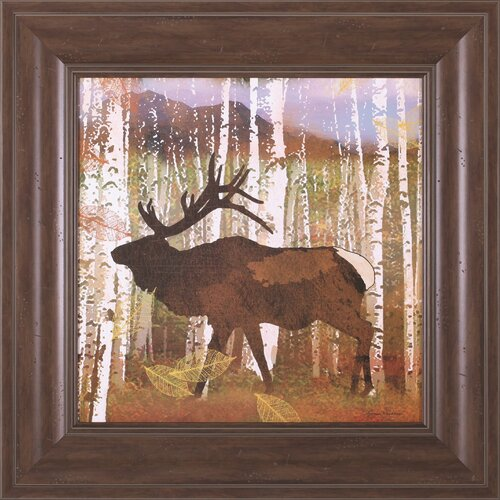 Elk by Lynnea Washburn Framed Painting Print