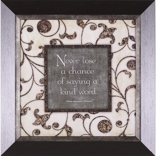 Art Effects Never Lose by Stephanie Marrott Framed Textual Art