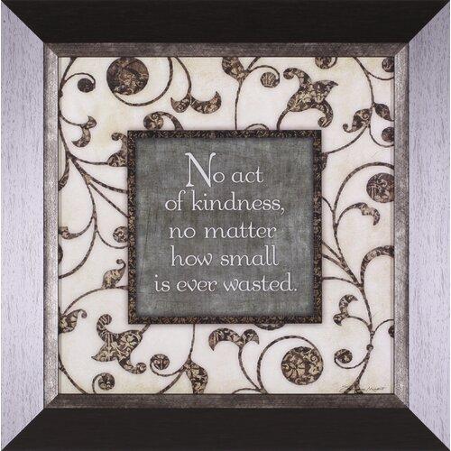 No Act by Stephanie Marrott Framed Textual Art