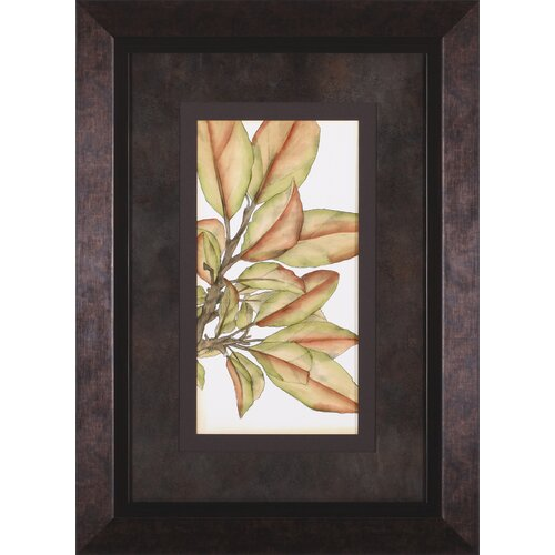 Art Effects Small Gilded Leaves II by Jennifer Goldberger Framed Graphic Art