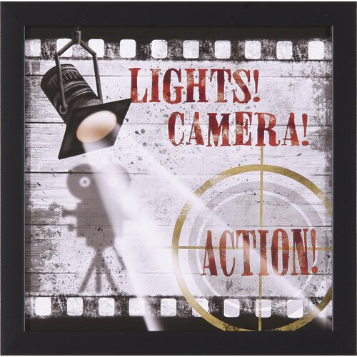 Art Effects Lights! Camera! Action! by Conrad Knutsen Framed Graphic Art