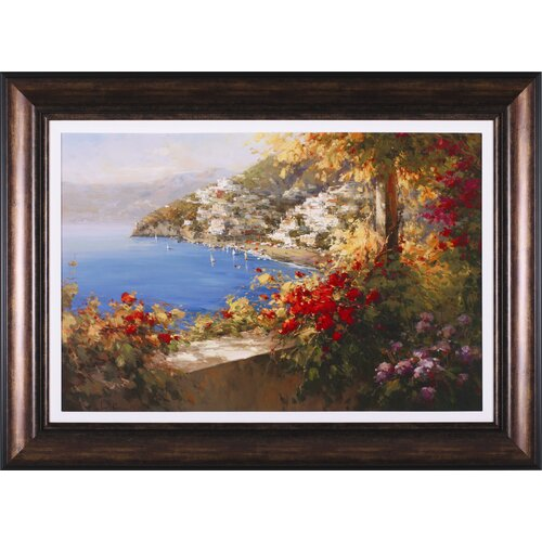Art Effects Italian Riviera by Rosa Chavez and Leon Ruiz Framed Painting Print