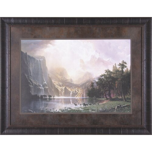 Art Effects Sierra Nevada in California by Albert Bierstadt Framed Painting Print