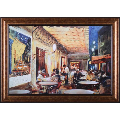Art Effects Café Van Gogh by Maria Zielinska Framed Painting Print