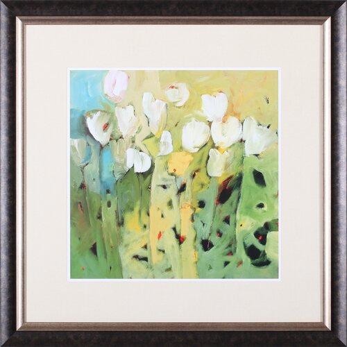Art Effects White Tulips II by Jennifer Harwood Framed Painting Print