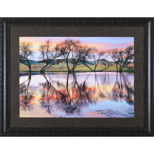 Art Effects 'Lake Reflection' by Loren Soderberg Framed Photographic Print