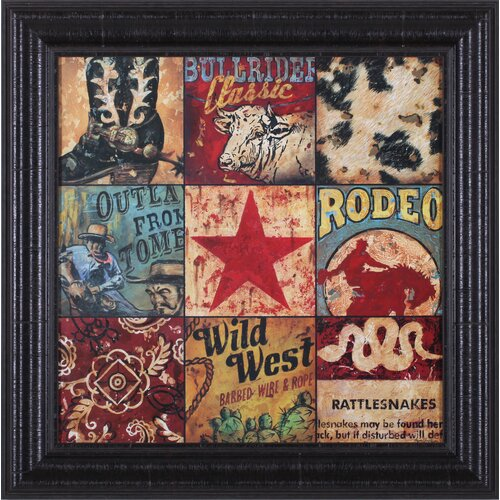 Cowboy Collage by Aaron Christensen Framed Vintage Advertisement
