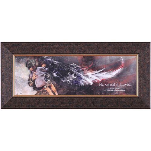 No Greater Love Soldier With Child Petite by Jason Bullard Framed Graphic Art