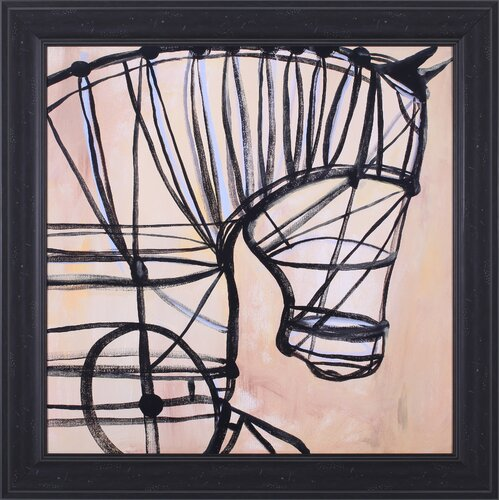 Art Effects Mechanical Horse by JC Pino Framed Painting Print