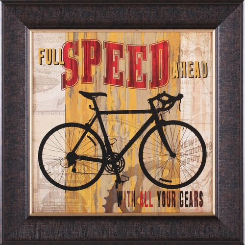 Full Speed Ahead by Maria Donovan Framed Vintage Advertisement