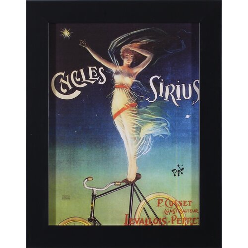 Art Effects Sirius Cycles by Vintage Apple Collection Framed Vintage Advertisement