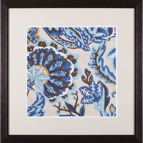Indigo Tapestry I by Chariklia Zarris Framed Painting Print