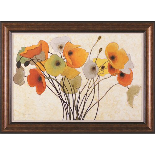 Art Effects Pumpkin Poppies I by Shirley Novak Framed Painting Print