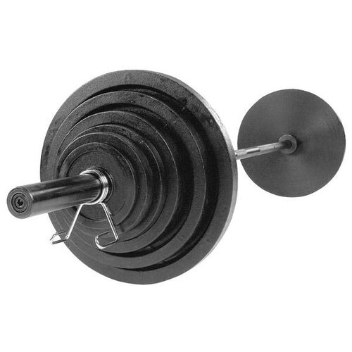 Body Solid 300 lbs Cast Olympic Set with Black Bar