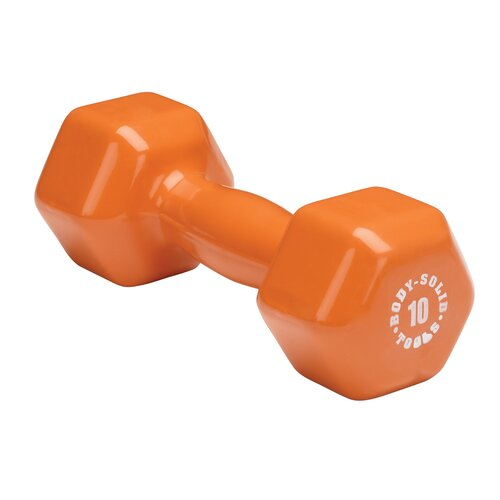 Vinyl Dumbbell in Orange