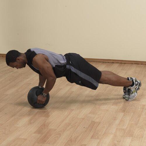 Body Solid 8 lbs Dual Grip Medicine Balls in Black