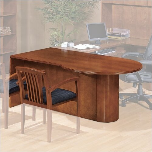 "OSP Furniture Kenwood 72"" W P-Top Desk"