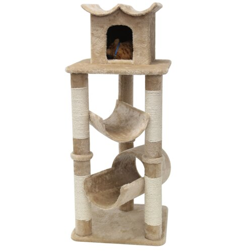 "Majestic Pet Products 47"" Casita Fur Cat Tree"