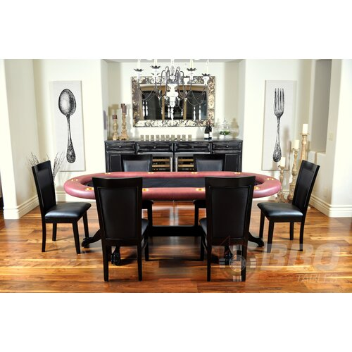 BBO Poker Elite 8 Piece Poker Dining Table Set with Dining Chairs